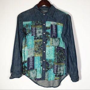 Artisan De Luxe Button Down Pearl Snap Shirt XS